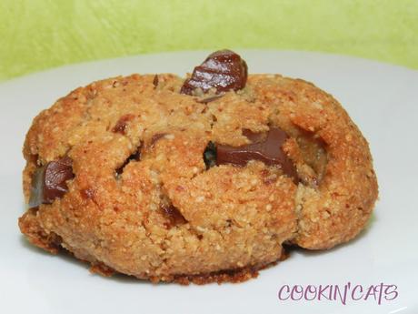 BISCUITS AMANDE & CHOCOLAT A L'AQUAFABA (sans gluten, végétalien)