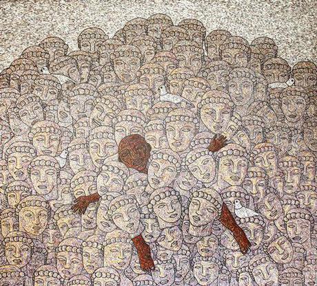 Bribes d'artistes Thaïlandais au Moca muséum Bangkok
