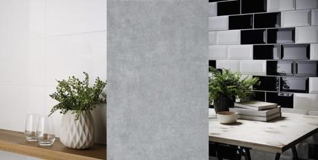 carrelage faience design moderne cuisine effet beton pas chere