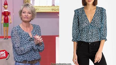 AFFAIRE CONCLUE : la blouse fleurie de Sophie Davant