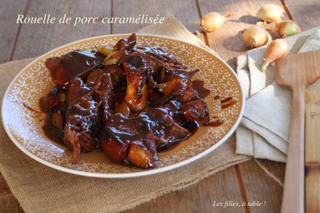 Rouelle de porc caramélisée aux oignons sauciers