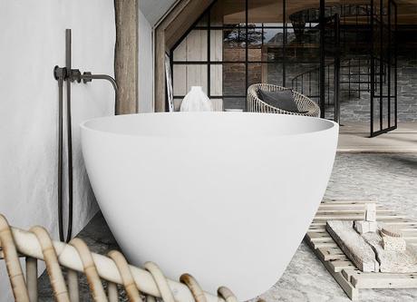 Chambre parentale et sa salle de bain dans une ferme rénovée