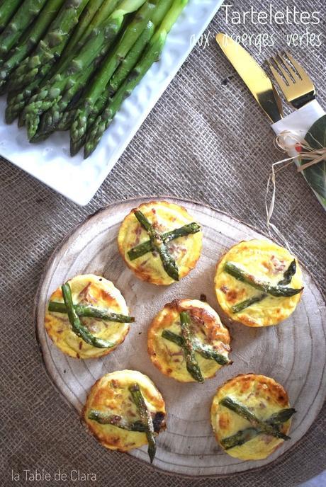 Tartelettes aux asperges vertes