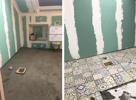 Avant / Après – Création de la salle de bain
