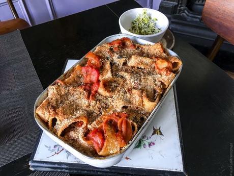 « Calamars »… – Pasta al forno au kale