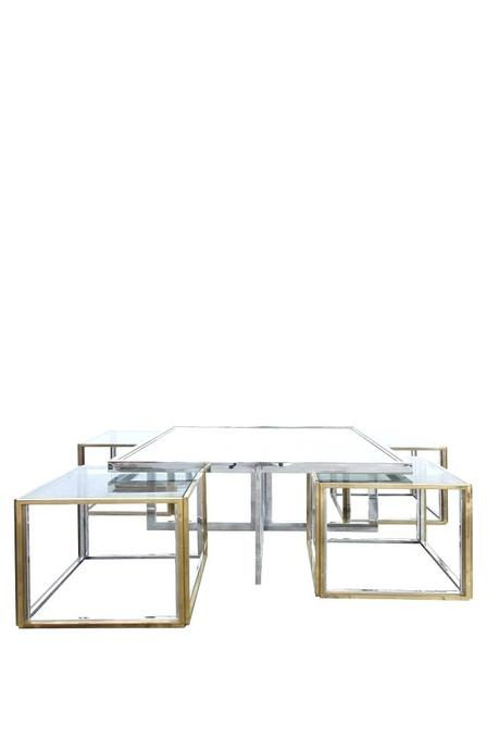 maison coffee table vintage coffee table with four side tables