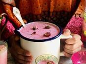 Alouda rose lait aromatisé mauricien graines basilic gelée d'agar agar.