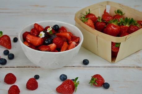 Salade de fruits rouges au basilic