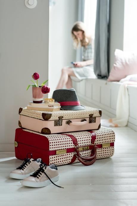 cannage diy valise vintage style rétro - blog déco - clem around the corner