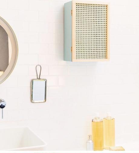 cannage diy armoire salle de bain hygge - blog déco - clem around the corner