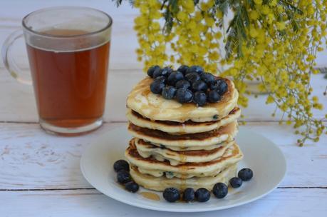 Pancake américain aux myrtilles