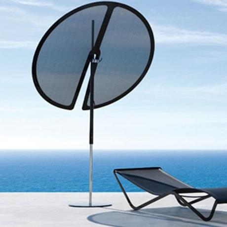 parasol design nenuphar mer bleu terrasse chaise longue transat - blog déco - clematc