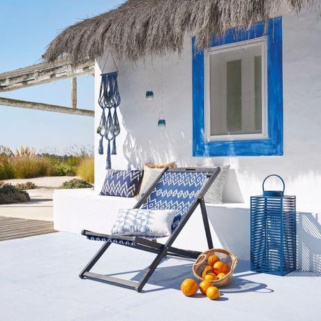 déco extérieure grèce bleu et blanc bord de mer tendance jardin terrasse - blog déco - clemaroundthecorner