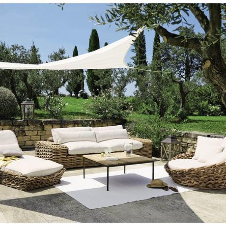 canapé rond rotin extérieur mobilier outdoor maisons du monde avis salon de jardin provence transat