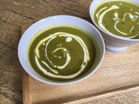 Brrrr ! – Soupe de fanes de radis et patate douce