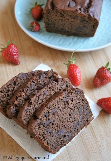Cake au chocolat { sans gluten, sans lait, sans œufs }
