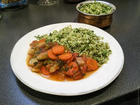 Vert indien – Riz à la coriandre (Coriander Rice)
