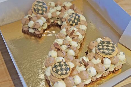 Number cake, Namelaka chocolat Chef Bau, Diplomate vanille, Sablé breton Chocolat Chef Conticini, Financier Tigré Chef Hermé