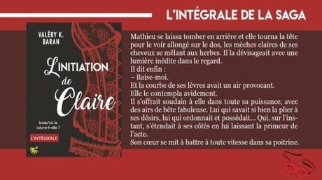 Blog tour : L'initiation de Claire / Valéry K. Baran