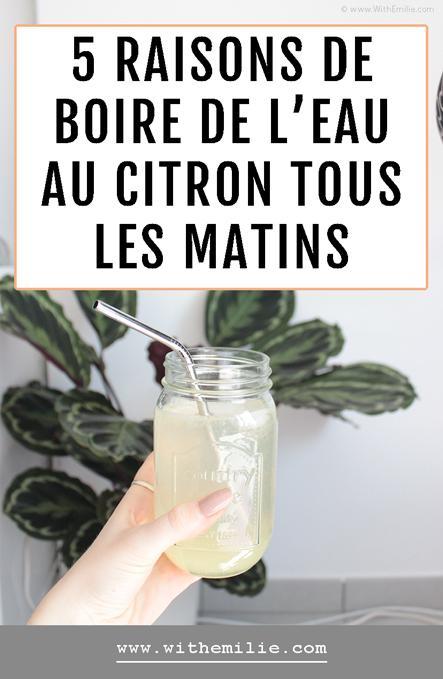 5 bonnes raisons de boire un verre d'eau au citron tous les matins