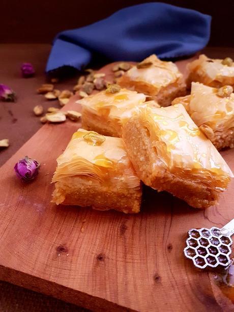 Baklava aux amandes et pistaches