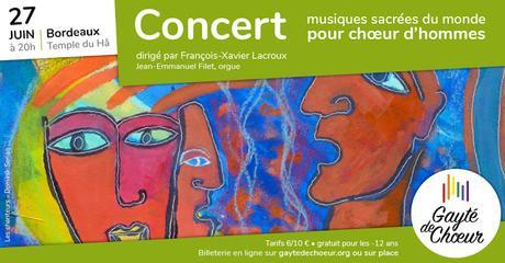 Holy World! Sacred chants for men's choir: see the poster announcing the concert by Senaq-Sacré Monde ! Chants sacrés pour chœur d'hommes: voir l'affiche annoncant le concert by Senaq