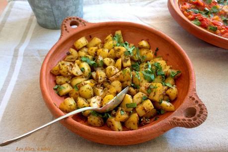 Salade de pommes de terre à la chermoula