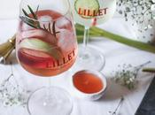 Cocktail Lillet Tonic Rosé rhubarbe