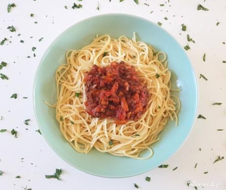Bolognaise végétarienne aux lentilles