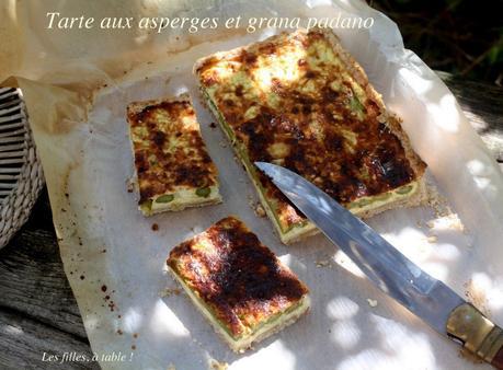 Tarte aux asperges et grana padano