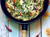 """Omelette encore """"tortilla"""" mauricienne recette ensoleillée avec légumes soleil, piment herbes fraîches"""