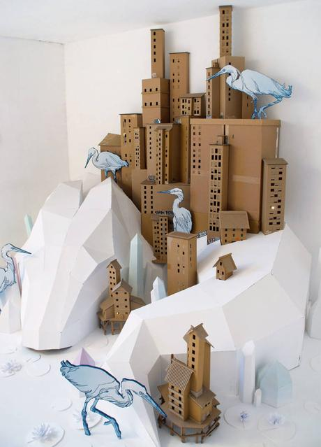 Poetic urban paper art by Tank & Popek