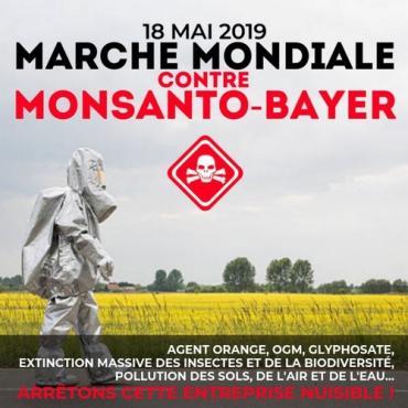 Nouvelle Marche mondiale contre Bayer-Monsanto le samedi 18 mai 2019