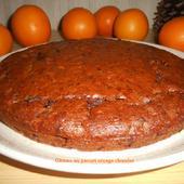 Gâteau au yaourt orange-chocolat - Mes recettes et photos de gâteaux
