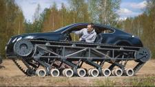 Une Bentley Continental GT transformée en char d'assaut