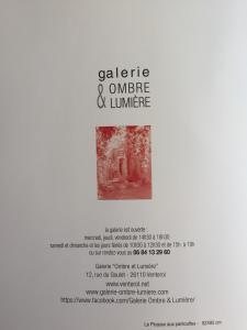 Galerie Ombre & Lumière à Venterol (Drôme) 16 Juin au 28 Juillet 2019 exposition Philippe Dutilleul
