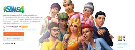 Le jeu Les Sims 4 est GRATUITsur PC !