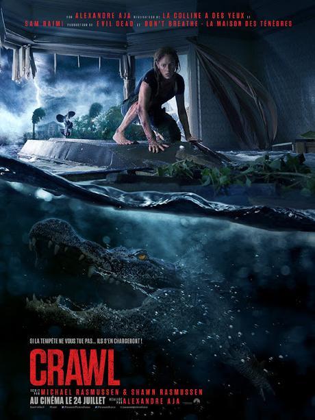 Nouvelle affiche VF pour Crawl signé Alexandre Aja