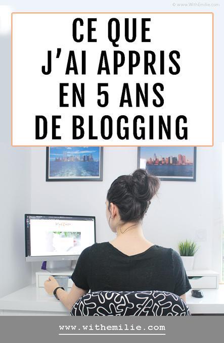 Ce que j'ai appris en 5 ans de blogging