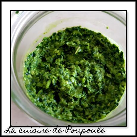 Pesto de feuilles de blettes