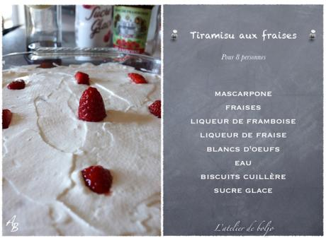 Tiramisu aux fruits rouges sans jaune d'oeufs