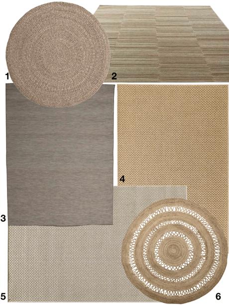 shopping liste tapis d extérieur naturel en jute tréssé rond - blog déco - clemaroundthecorner