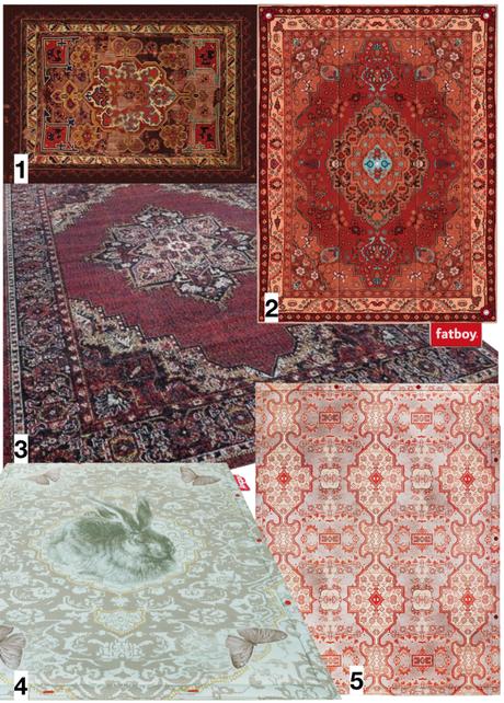 shopping liste tapis d extérieur style oriental persan rouge motif bleu vert - blog déco - clematc