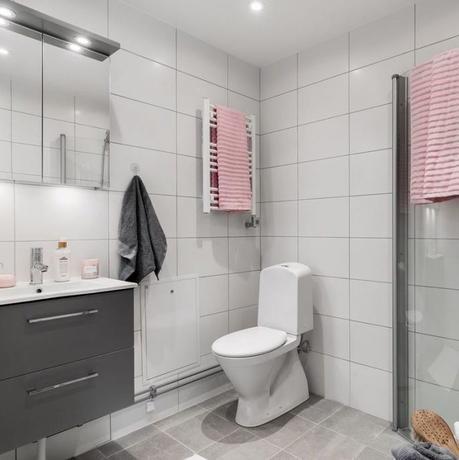 déco gris rose salle de bain carrelage - blog déco - clem around the corner