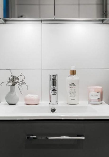 déco gris rose salle de bain lavabo béton - blog déco - clem around the corner