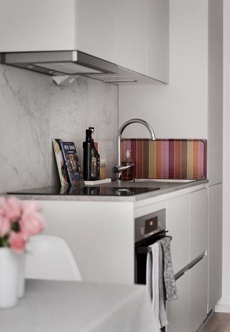 déco gris rose cuisine plan travail - blog déco - clem around the corner