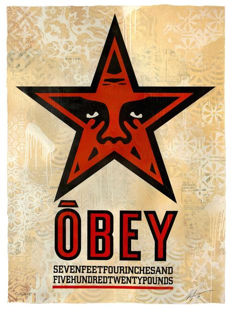 « Facing the giant : 3 decades of dissent » par Obey
