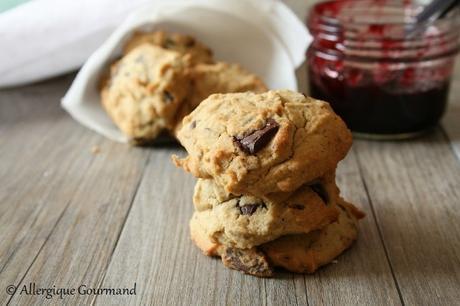 Biscuits aux graines de tournesol et chocolat { sans gluten, sans lait, sans œufs }