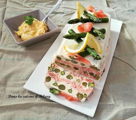 Terrine fraîche aux deux saumons et asperges