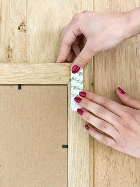accrocher tableau mur sans trou test languette autocollante